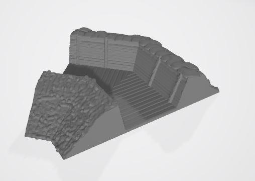 15mm Trench Part 5 Degrees - OTP Terrain & Miniatures Off The Print Gaming