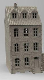 3 Story Workers House - OTP Terrain & Miniatures Off The Print Gaming