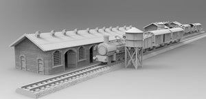 Train Yard Buildings & Water Towers Mega Set