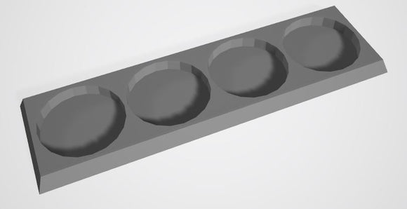 Set of 6 (25mm bases 1x4 4 Man Movement Tray)