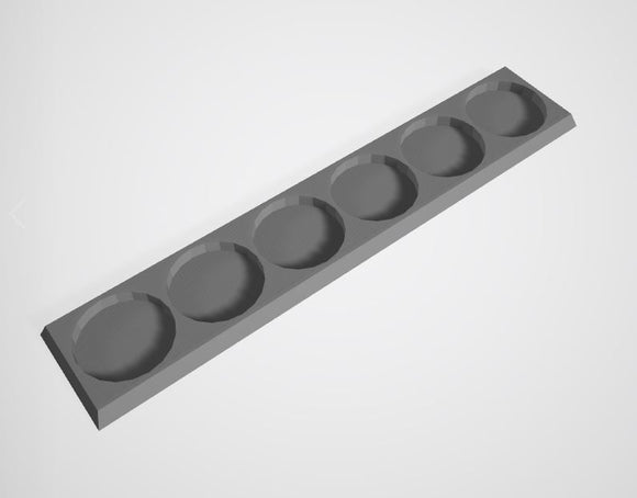 Set of 4 (25mm bases 1x6 6 Man Movement Trays)