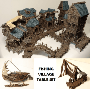 Fishing Village Ultimate Collection Set - OTP Terrain & Miniatures Off The Print Gaming