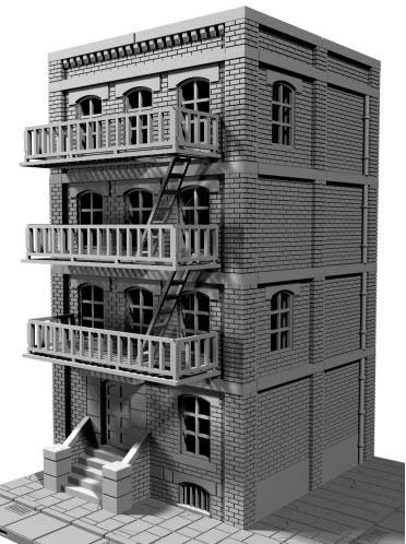 The Tenements - OTP Terrain & Miniatures Off The Print Gaming