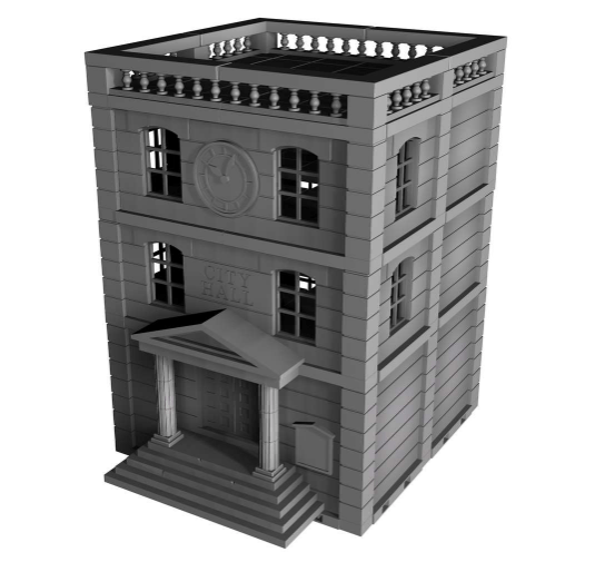 City Hall - OTP Terrain & Miniatures Off The Print Gaming