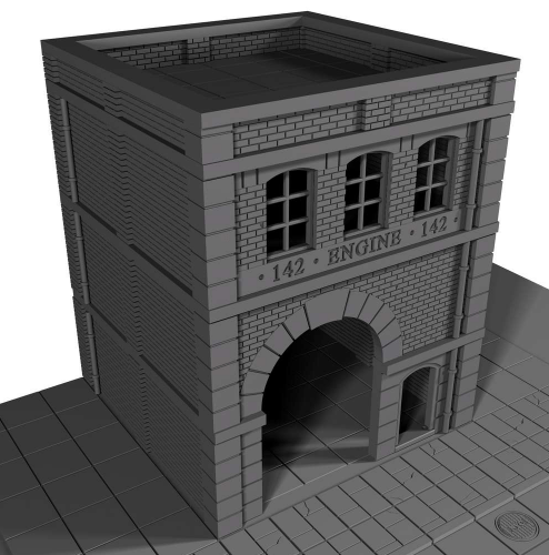 Fire House - OTP Terrain & Miniatures Off The Print Gaming