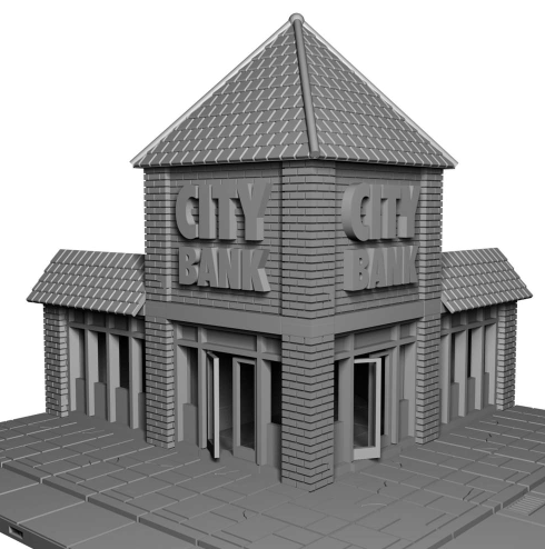 City Bank - OTP Terrain & Miniatures Off The Print Gaming