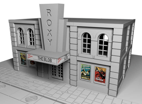 Roxy Cinema - OTP Terrain & Miniatures Off The Print Gaming