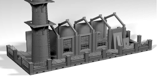Abandoned Factory - OTP Terrain & Miniatures Off The Print Gaming