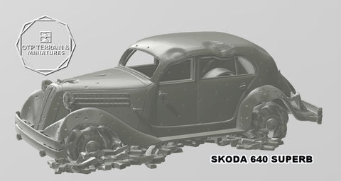 SKODA 630 SUPERB destroyed with rubble