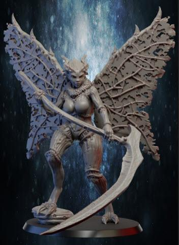 Moth Lady - OTP Terrain & Miniatures Off The Print Gaming