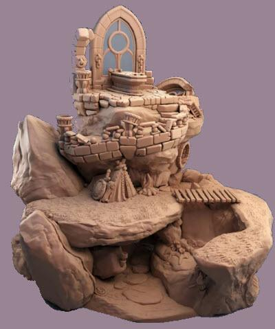 Fantasy Rock ( Diorama Display) - OTP Terrain & Miniatures Off The Print Gaming