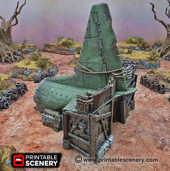Cargo Plane Entrance - OTP Terrain & Miniatures Off The Print Gaming