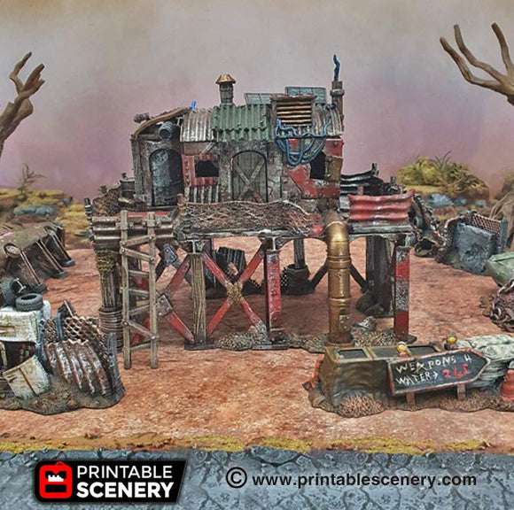 Survivalist Shack - OTP Terrain & Miniatures Off The Print Gaming
