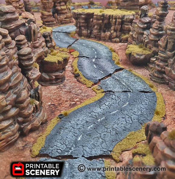 Desert Roads Set of 13 - OTP Terrain & Miniatures Off The Print Gaming