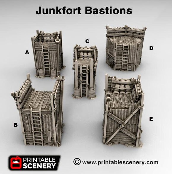 Junkfort Bastions - OTP Terrain & Miniatures Off The Print Gaming