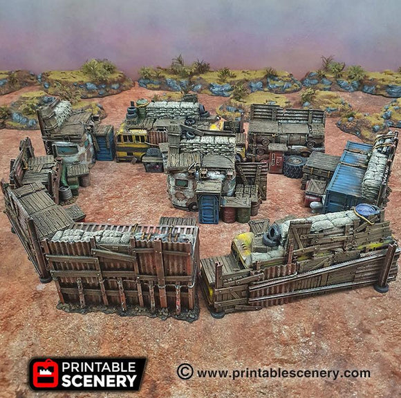 Junkfort Ramparts - OTP Terrain & Miniatures Off The Print Gaming