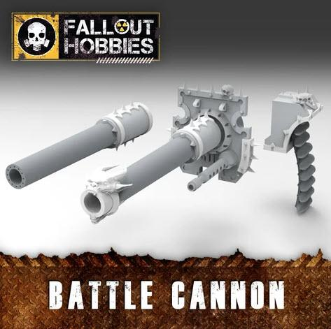 Chaotic Warmachine Battle Cannon Conversion Bits - OTP Terrain & Miniatures Off The Print Gaming