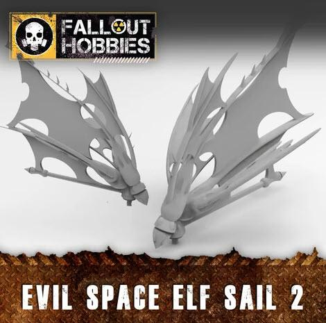 EVIL SPACE ELF SAILS 2 - OTP Terrain & Miniatures Off The Print Gaming