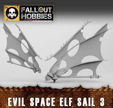 EVIL SPACE ELF SAILS 3 - OTP Terrain & Miniatures Off The Print Gaming