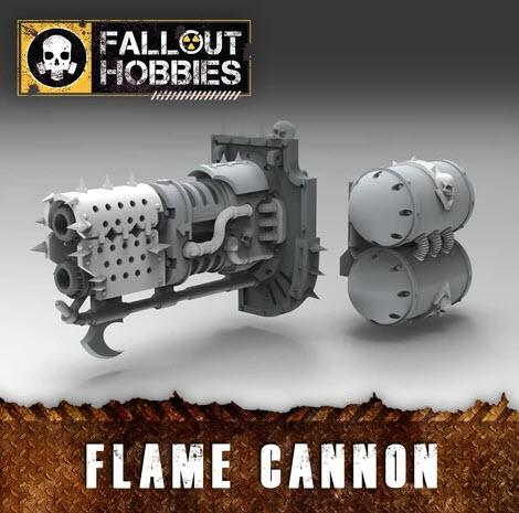 CHAOTIC WARMACHINE FLAME CANNON CONVERSION BITS - OTP Terrain & Miniatures Off The Print Gaming