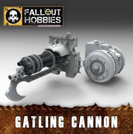 CHAOTIC WARMACHINE GATLING CANNON CONVERSION BITS - OTP Terrain & Miniatures Off The Print Gaming