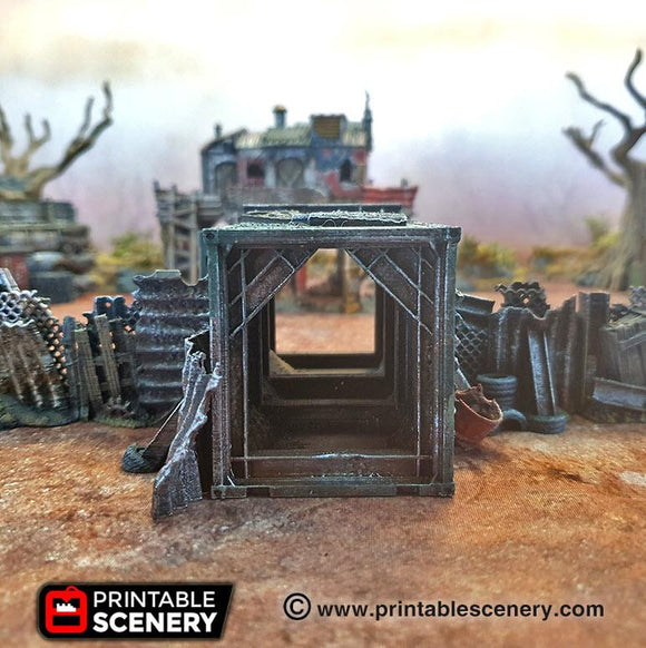Junkfort Foot Entrance - OTP Terrain & Miniatures Off The Print Gaming