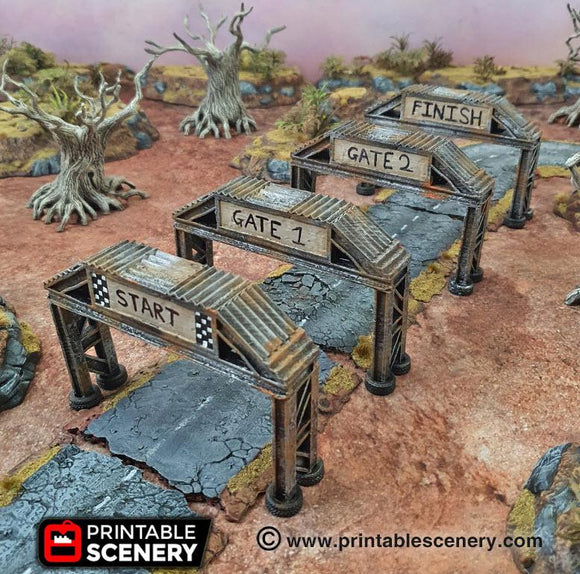Checkpoint Set Of 4 - OTP Terrain & Miniatures Off The Print Gaming