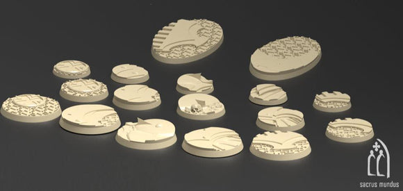 Irazar Bases Set Of 17 - OTP Terrain & Miniatures Off The Print Gaming
