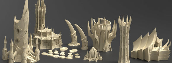 The Dark City Of Irazar Full Set - OTP Terrain & Miniatures Off The Print Gaming