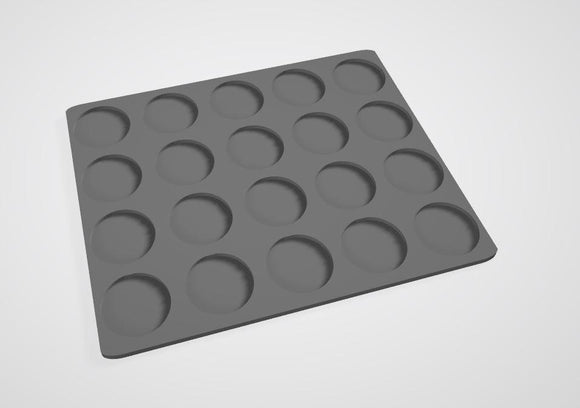 32mm bases 20 Man Movement Tray - OTP Terrain & Miniatures Off The Print Gaming