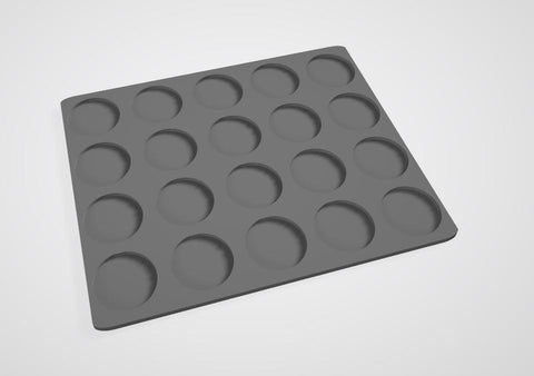 25mm bases 20 Man Movement Tray