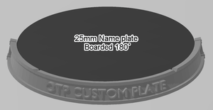 25mm 180° Bordered Name Plate - OTP Terrain & Miniatures Off The Print Gaming