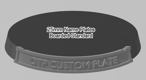 25mm Standard Bordered Name Plate