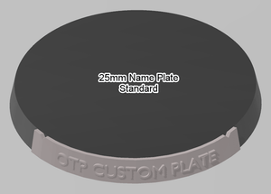 25mm Standard Plain Name Plate - OTP Terrain & Miniatures Off The Print Gaming