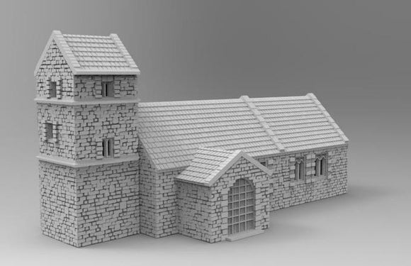 15mm Old English Church - OTP Terrain & Miniatures Off The Print Gaming