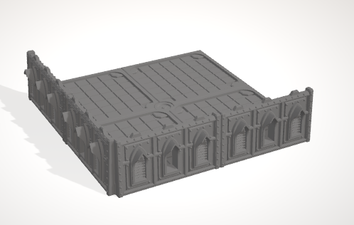 6mm 2x2 Gothic With Corner Barricades