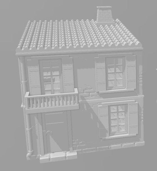 2 Story House A - OTP Terrain & Miniatures Off The Print Gaming