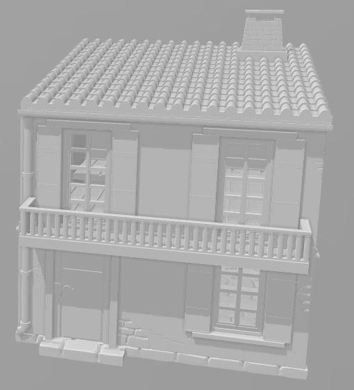 2 Story House B - OTP Terrain & Miniatures Off The Print Gaming