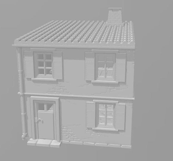 2 Story House C - OTP Terrain & Miniatures Off The Print Gaming