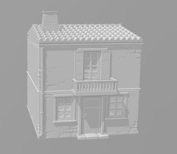 2 Story House D - OTP Terrain & Miniatures Off The Print Gaming