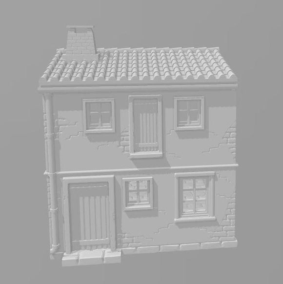 2 Story House E - OTP Terrain & Miniatures Off The Print Gaming