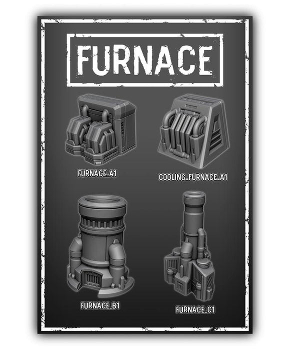 Furnace Set Of 4 - OTP Terrain & Miniatures Off The Print Gaming