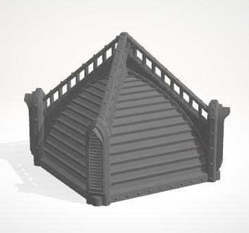 6mm 2x2 Gothic Roof no windows