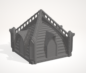 6mm 2x2 Gothic Roof with windows