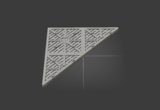 Floor 2x2 Style triangle-[40KTerrain]-[Fantasyterrain]-[3DPrintedTerrain]-[Wargaming]-[Tabletopgaming]-OTP Terrain Off The Print Gaming