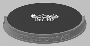 32mm 180° Bordered Name Plate