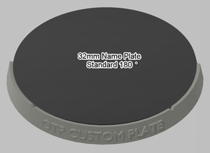 32mm 180° Plain Name Plate