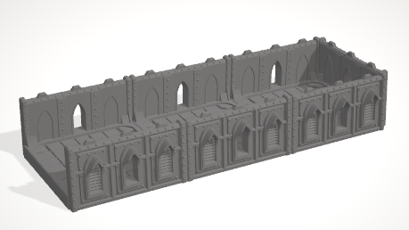 6mm 3x1 Gothic With 3 Side Barricades