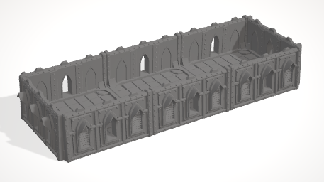 6mm 3x1 Gothic With 4 Side Barricades