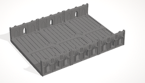 6mm 3x2 Gothic With 2 Side Barricades
